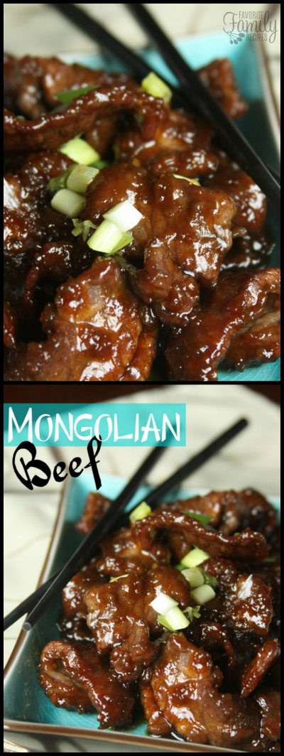 Our copycat P.F. Changs Mongolian Beef is pan fried and coated in a delicious sweet and savory sauce.  It tastes just like the restaurant at a fraction of the price! #beef #mongolianbeef #mongolianbeefcopycat #pfchangscopycat #copycatrecipe