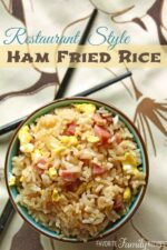 Restaurant Style Ham Fried Rice