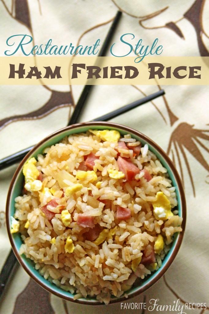 Restaurant Style Ham Fried Rice
