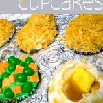 April Fools TV Dinner Cupcakes