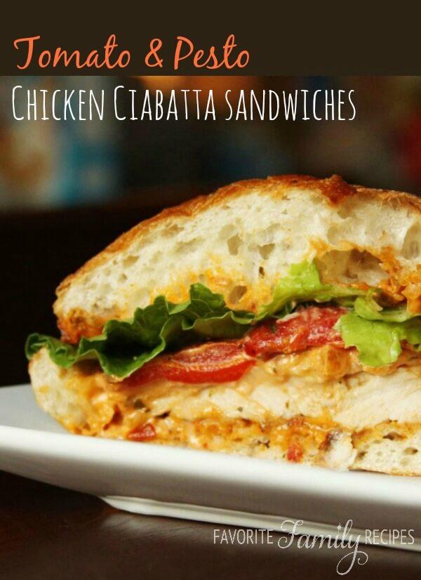 Chicken sandwich on ciabatta bread recipe