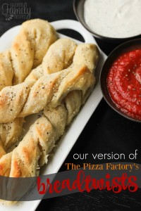 Pizza Factory Breadtwists Copycat Breadsticks Recipe