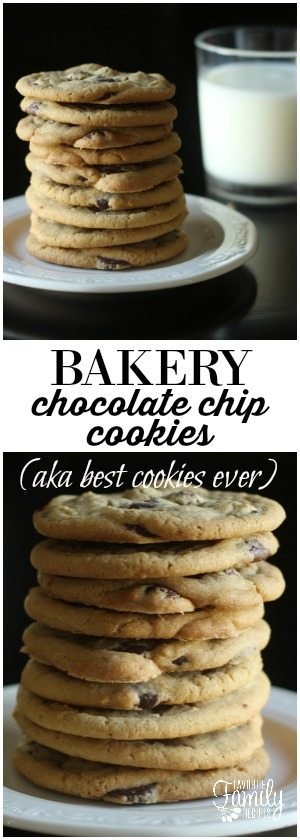 This is the only chocolate chip cookie recipe you will ever need. This was the recipe we used when I worked at a bakery in Hawaii and they are, to this day, my favorite cookies ever. There is no better chocolate chip cookie recipe out there. promise.