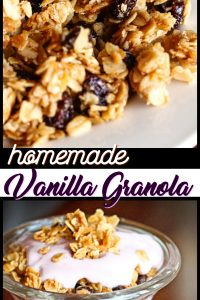 Homemade Vanilla Granola Pin