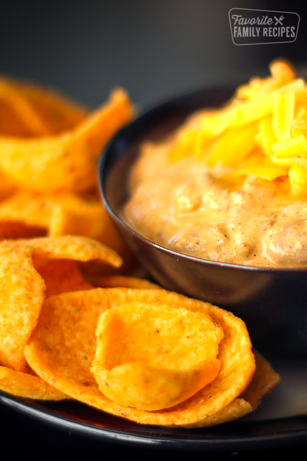 Chili Cheese Dip with Frito Chips