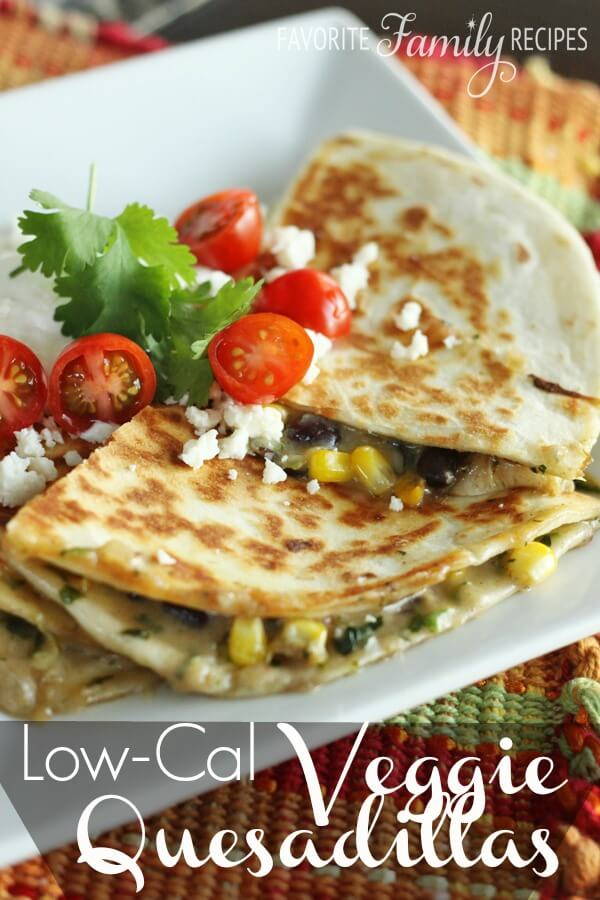 Low-Cal Veggie Quesadillas