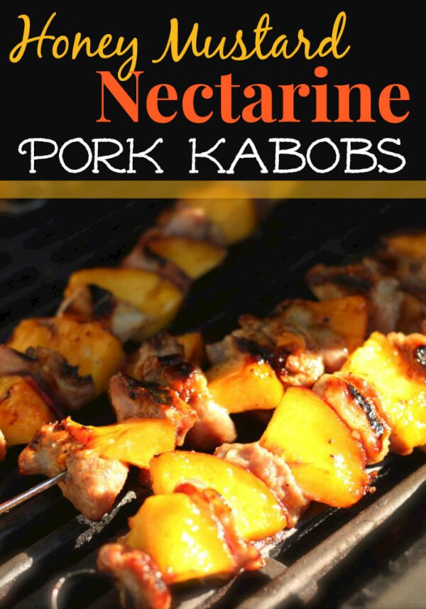 Honey Mustard Nectarine Pork Kabobs from favfamilyrecipes.com