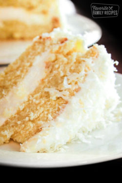 Coconut Cream Cake with Coconut Frosting