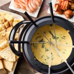 The Melting Pot's Spinach Artichoke Cheese Fondue