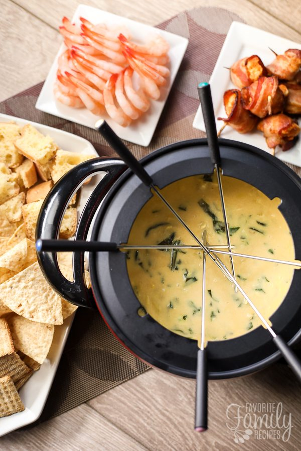 Melting Pots Spinach Artichoke Cheese Fondue