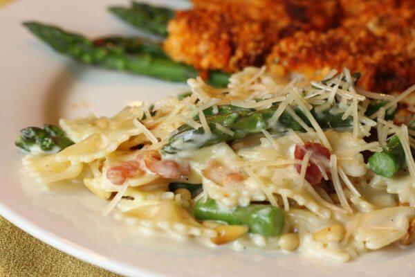 Creamy Bowtie and Asparagus Pasta (aka Anniversary Pasta)