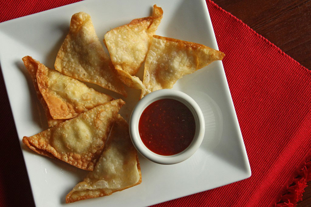 Crab and Cream Cheese Wontons from FavFamilyRecipes.com