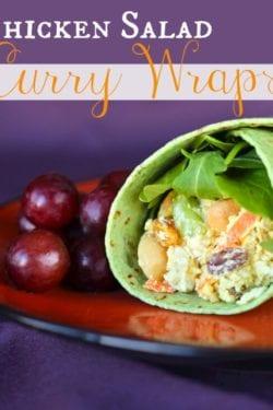 Chicken Salad Curry Wraps Recipe