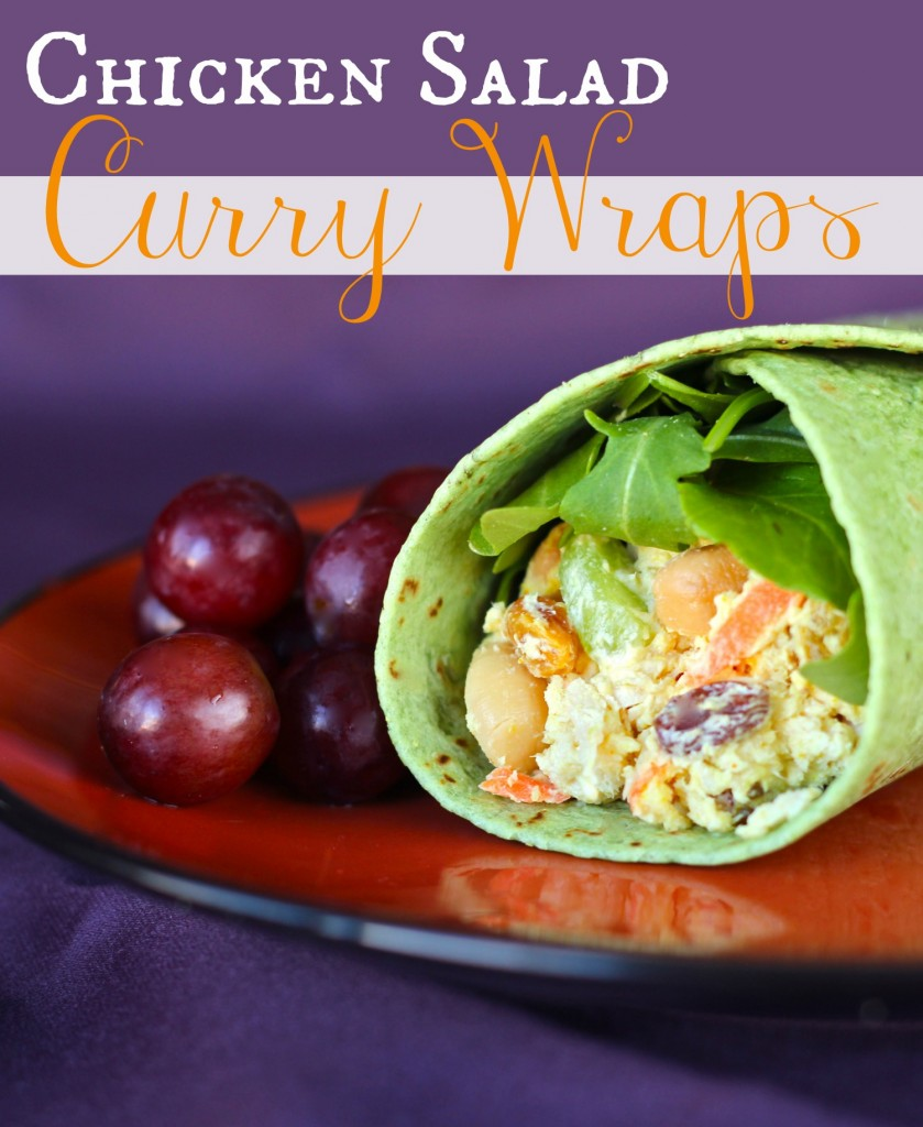 Chicken Salad Curry Wraps from favfamilyrecipes.com