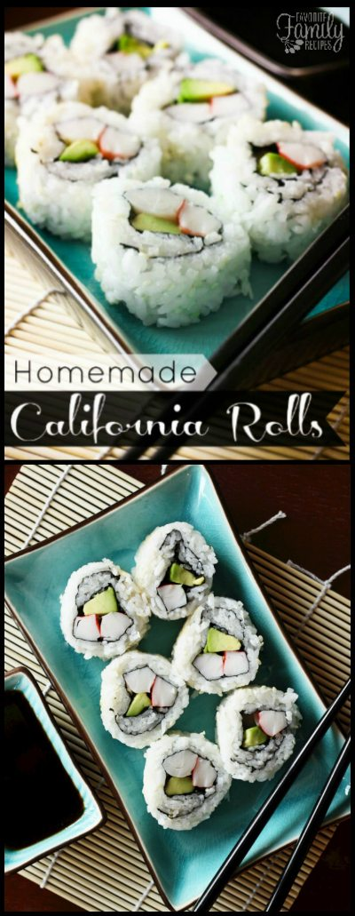 I could eat California Rolls all day long but they are so expensive to buy here! They are much cheaper to make and not as difficult as you may think!
