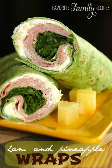Ham Pineapple Wraps from favfamiyrecipes.com
