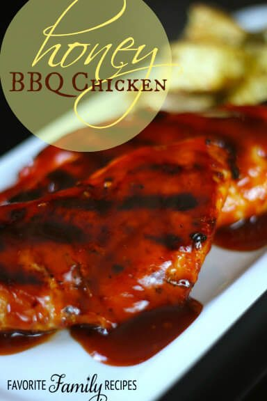 Honey BBQ Chicken from favfamilyrecipes.com