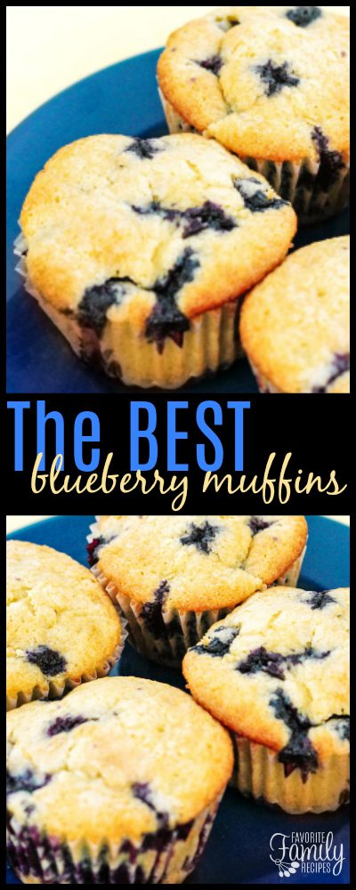These Blueberry Muffins are made from scratch with fresh blueberries!  They are by far the best muffins I have ever had, they are tart and sweet and buttery.  #BlueberryMuffins #muffins #blueberries #breakfastmuffins #muffins