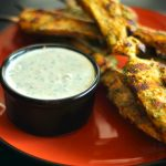Cilantro Thai Chicken Skewers with Cucumber Yogurt Dipping Sauce