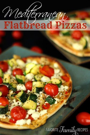 Mediterranean Flatbread Pizzas from favfamilyrecipes.com