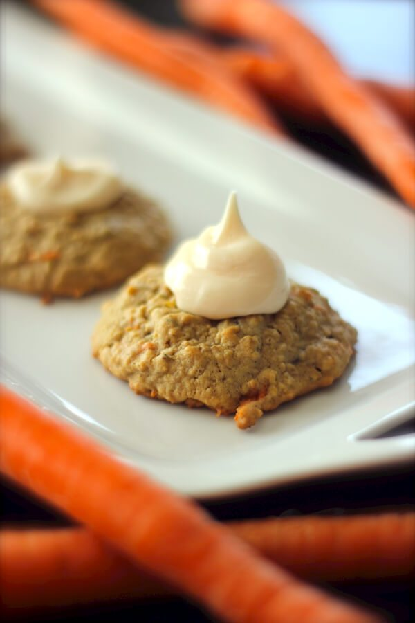 Carrot Cake Cookies with Cream Cheese Frosting - favfamilyrecipes ...