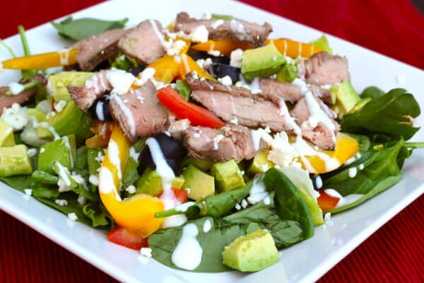 Steak Salad with Blue Cheese and Avocados -Favorite Family Recipes