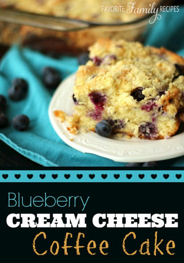 Blueberry Cream Cheese Coffee Cake from favfamilyrecipes.com