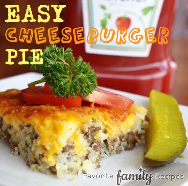 Easy Cheeseburger Pie