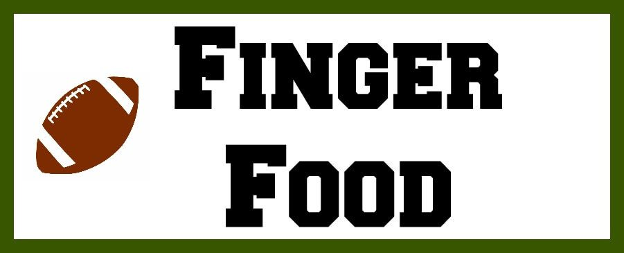 Finger Food title with a football image next to it