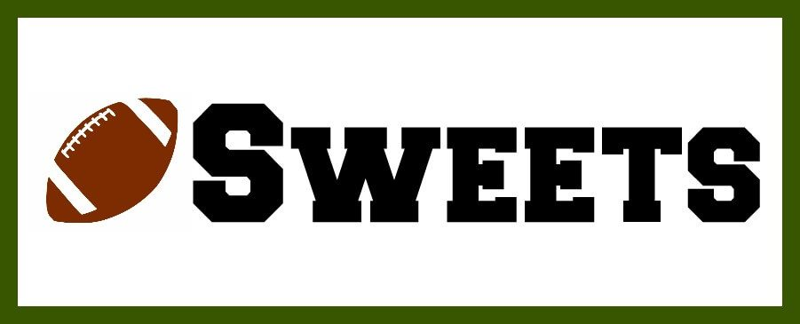 The word SWEETS with a football image