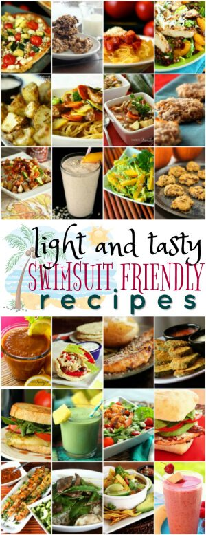 These Light and Tasty Swimsuit Friendly Recipes are my go to list when the holidays are over and I need to do some damage control.