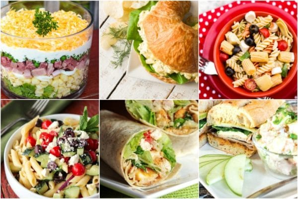 Collage of picnic foods