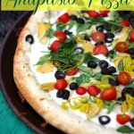 Antipasto Pizza Recipe with Fresh Garlic Sauce