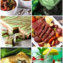 Collage of St Patrick's Day recipes