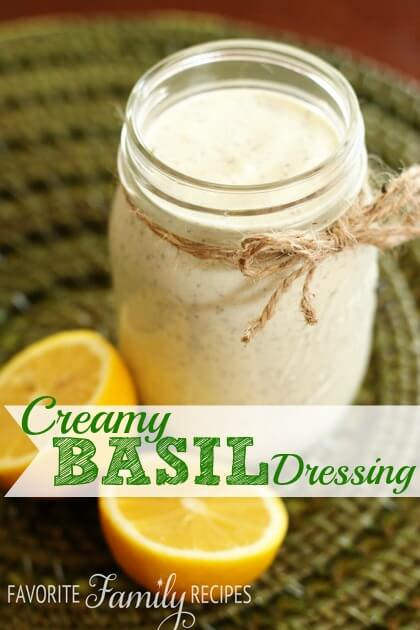 Creamy Basil Salad Dressing | Favorite Family Recipes