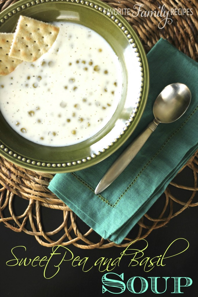 Basil and Sweet Pea Soup from favfamilyrecipes.com