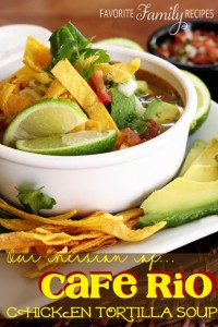 Cafe Rio Chicken Tortilla Soup from FavFamilyRecipes.com #CafeRioRecipes