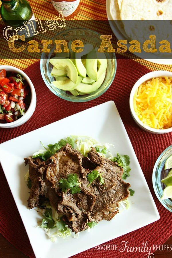 Grilled Carne Asada from FavFamilyRecipes.com