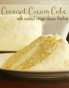 Coconut Crean Cake with Coconut Cream Cheese Frosting
