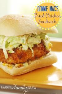 Donnie Mac's Southern Fried Chicken Sandwich