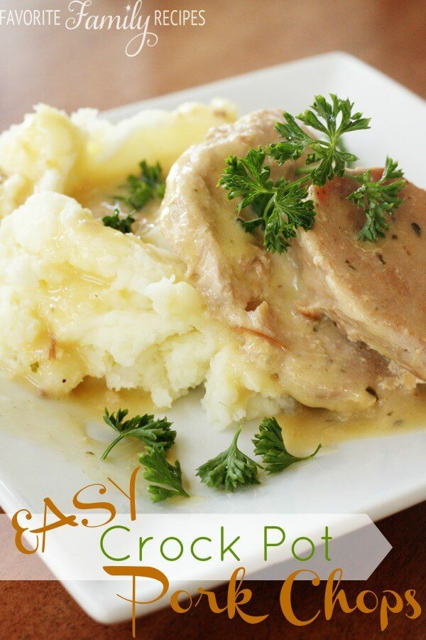 Easy Crock Pot Pork Chops from FavFamilyRecipes.com