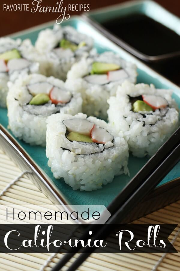 Homemade California Rolls from FavFamilyRecipes.com