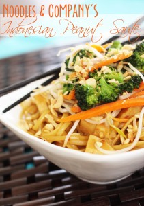 Noodles and Company's Indonesian Peanut Saute