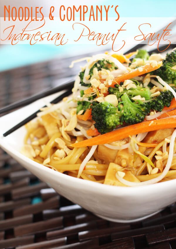 Noodles and Company Indonesian Peanut Saute Copycat