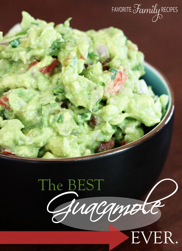 The Best Guacamole. EVER. from FavFamilyRecipes.com