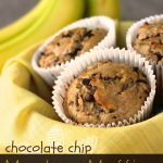 Chocolate Chip Monkey Muffins (made with coconut oil)