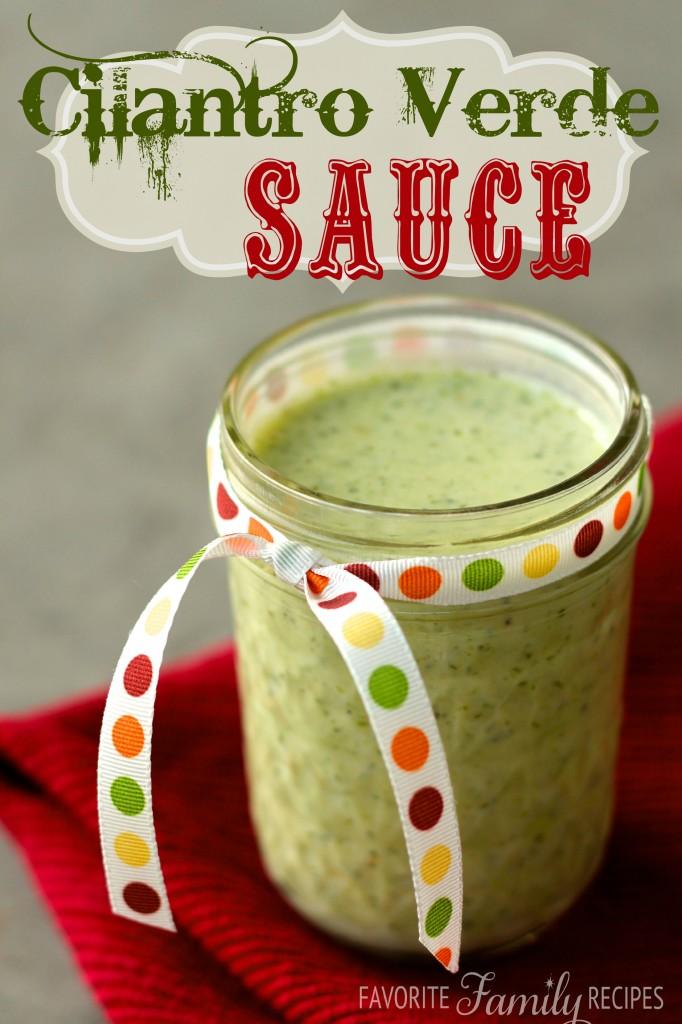 Cilantro Verde Sauce from favfamilyrecipe.com