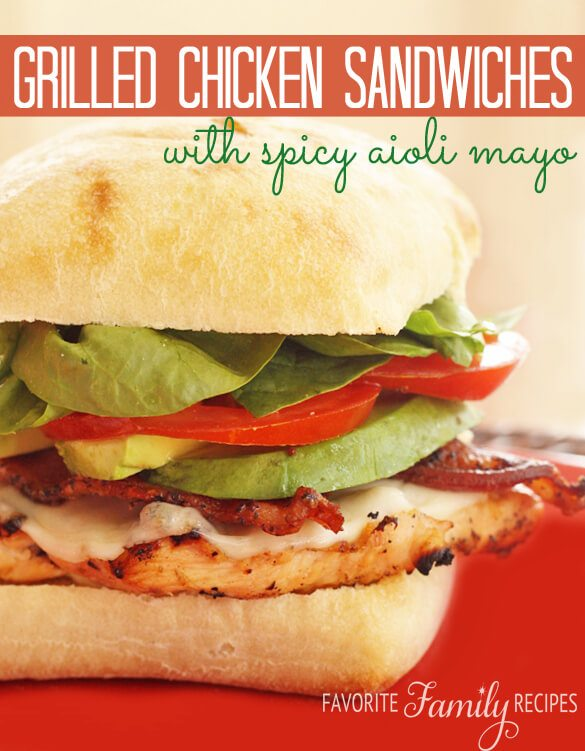 Grilled Chicken Sandwiches with Spicy Aioli Mayo Recipe