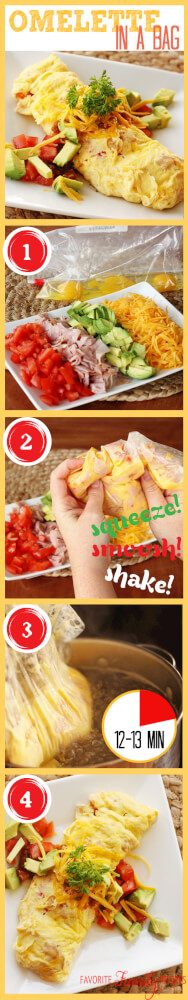How to make an Omelette in a Bag with step by step instructions