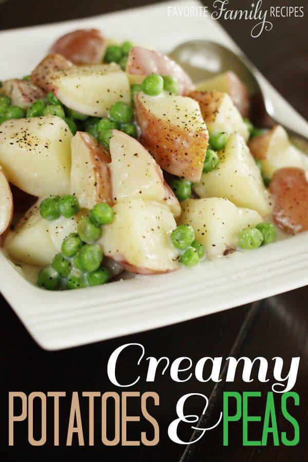 Creamy Potatoes and Peas